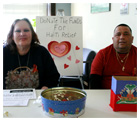 Patricia and Alphonso, and other members of LSSI's Journeys, help raise money for Haitian earthquake victims.